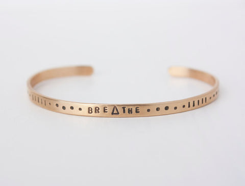 Breathe Brass Cuff Bracelet
