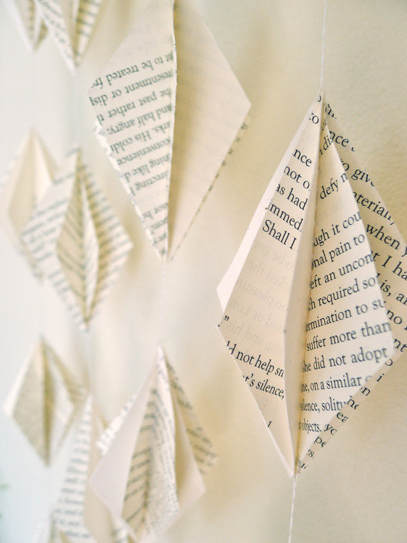 Recycled Book Garland