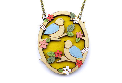 Two Little Birds Necklace