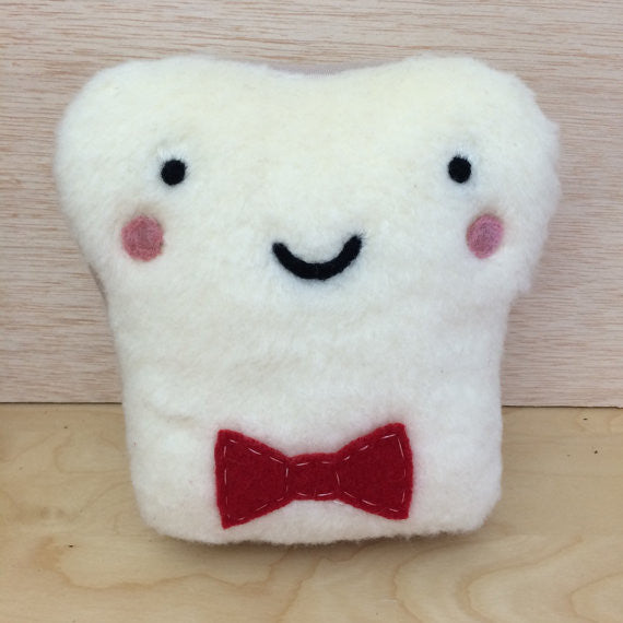 Mr. Toasty Bow Tie Stuffed Plush Pillow