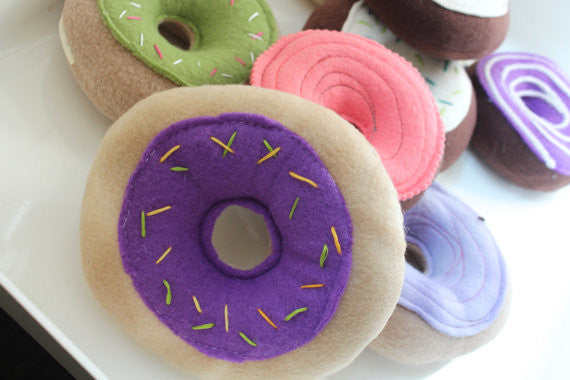 Squeaky Dog Toy Donut