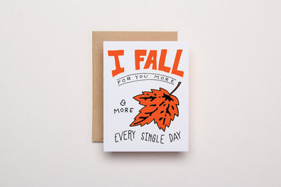 Fall for You - Letterpress Card
