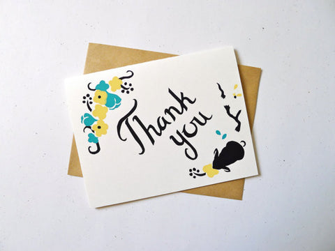 Bunny Thank You Greeting Card