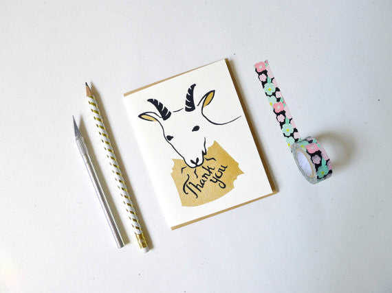 Goat Thank You Greeting Card
