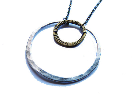 Mixed Circles Necklace // Jennifer Kahn Jewelry - WATERBURY