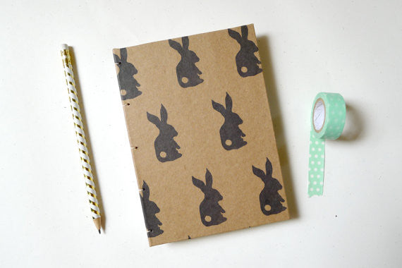 Bunny Coptic Notebook // by Middle Dune