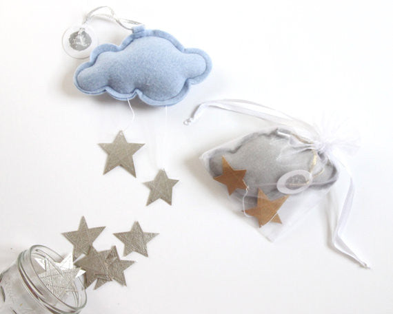 Light Blue Mini Cloud Mobile