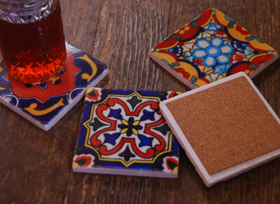 Mexican Tile Coasters // Set of 4