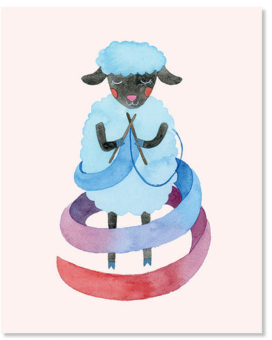 Sheep 8x10 Art Print