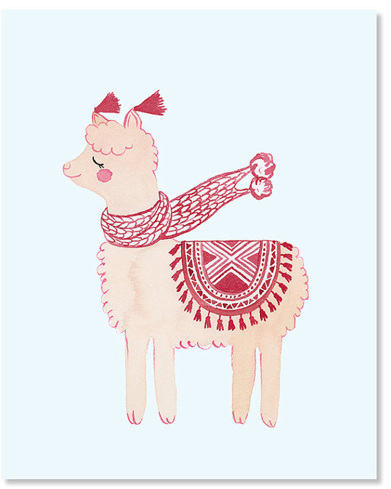 Winter Alpaca 8x10 Art Print