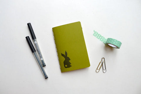 Bunny Rabbit Jotter Notebook // by Middle Dune