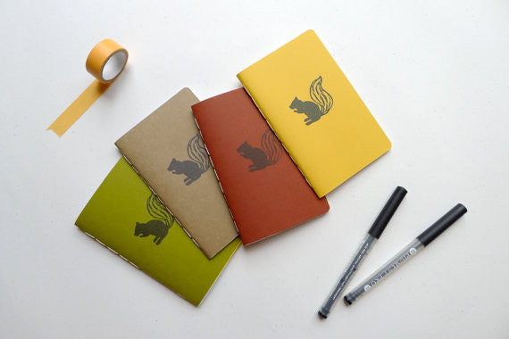 Squirrel Jotter Notebook WATERBURY