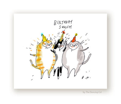 Birthday Squish Cat Greeting Card