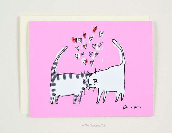 Head Butt Love Greeting Card