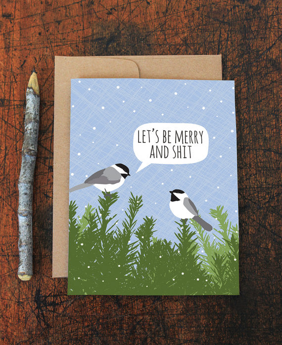 Merry and Shit Chickadee Card Boxed Set