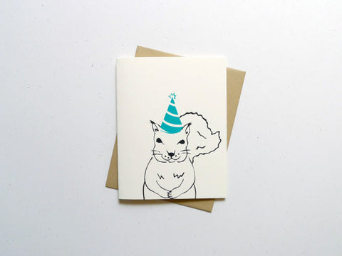 Birthday Cake Squirrel Card // by Middle Dune