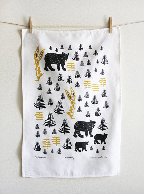 Territory Tea Towel White