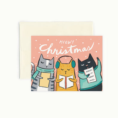 Meowy Christmas Cards // Set of 8