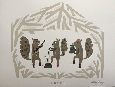 Squirrel Jug Band Print 8.5X11