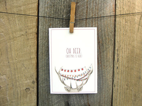 Oh Deer, Christmas is Here! // Art Card