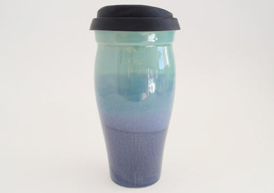 Ceramic Travel Mug- Blue and Teal