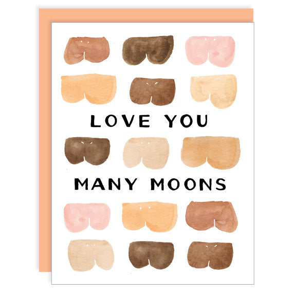 Many Moons Butts Greeting Card