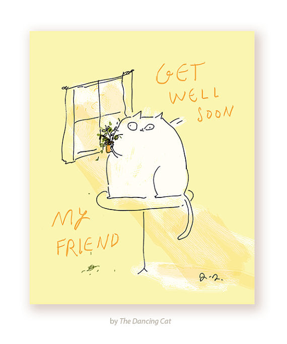 Get Well Soon My Friend Greeting Card