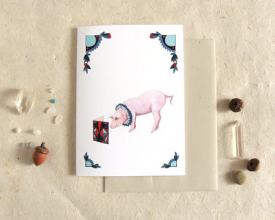 Greeting Card: Critters and Cards: Pig