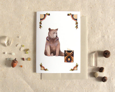 Critters and Cards: Bear // Greeting Card // Polanshek of the Hills