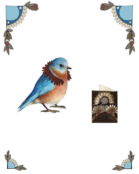 Critters and Cards: Bird - Art Print