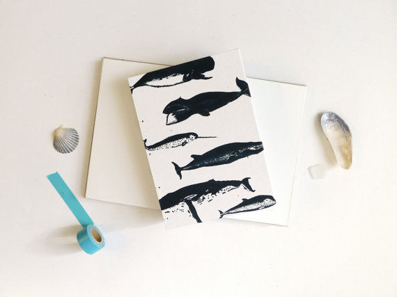 Whale Coptic Notebook // by Middle Dune