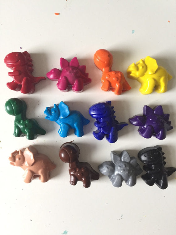 Eco Friendly Dinosaur Crayons