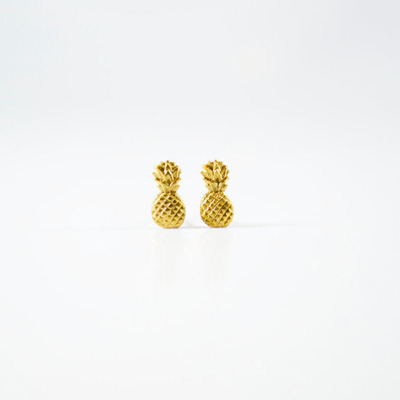 Brass Pineapple Studs