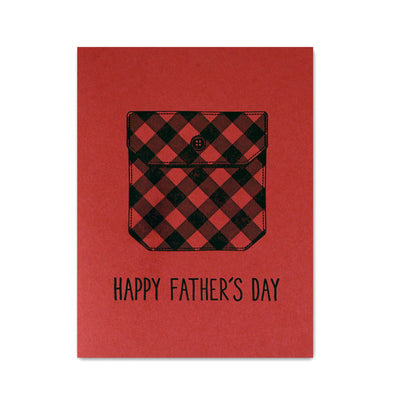 Father's Day Buffalo Plaid Card