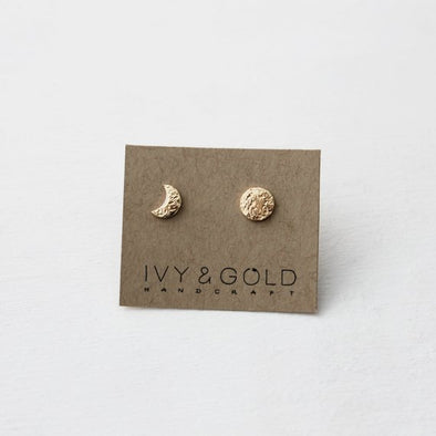 Moon Phase Earrings - Gold Fill