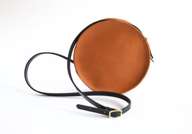 Marina Circle Bag - Sienna and Cognac Straps