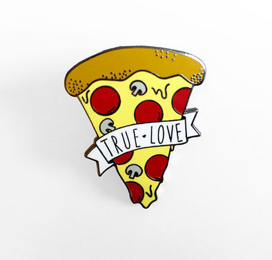 True Love Pizza Pin