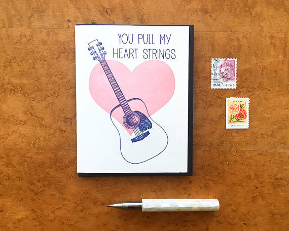 You Pull My Heart Strings Greeting Card