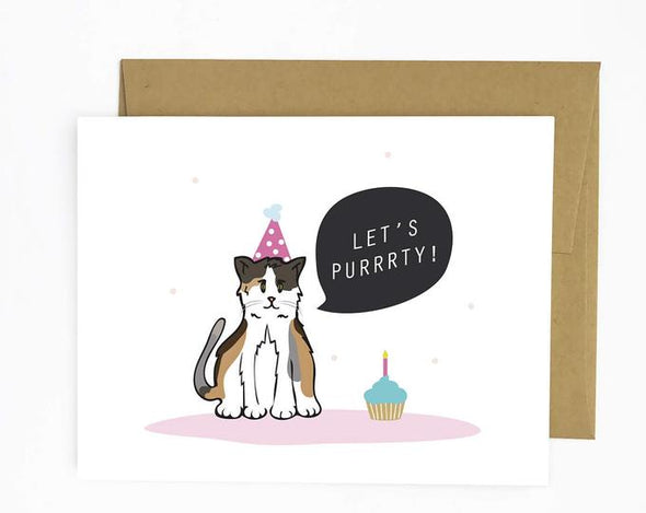 Let's Purrty Card
