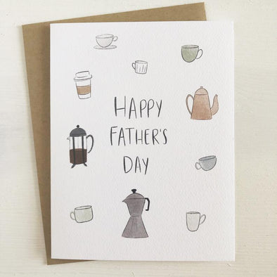 Coffee Dad Greeting Card