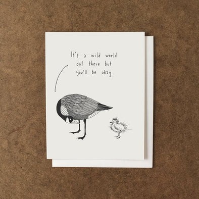 Wild World Out There- Baby Card