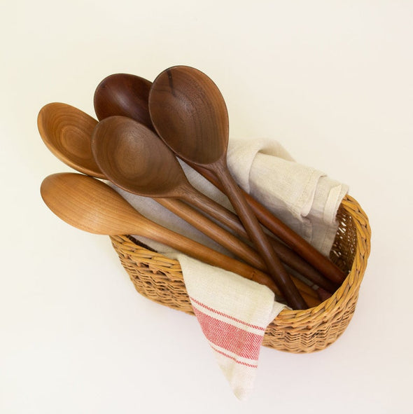 Walnut Wood Condiment and Serving Spoon