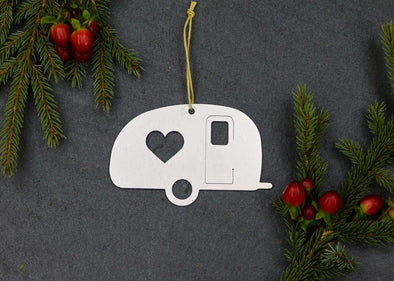 Camper Trailer Metal Ornament