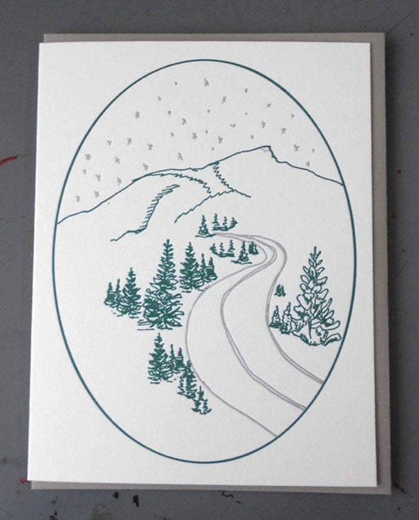 Winter in Vermont Letterpress Card Box Set