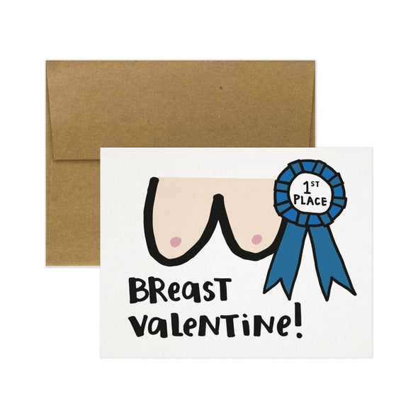 Breast Valentine Greeting Card