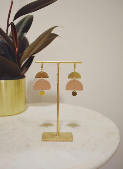Jaime Brass & Clay Earrings