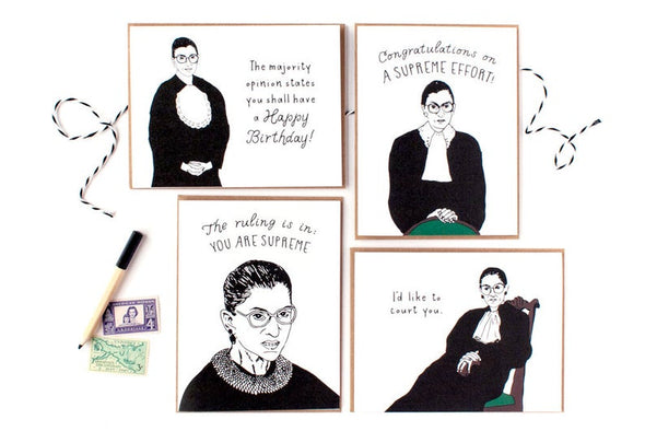 Ruth Bader Ginsburg Card Set of 8