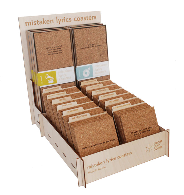 Mistaken Lyrics Coasters Individual