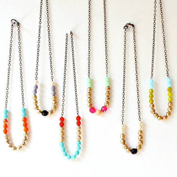 Colorful Bead Layering Necklace