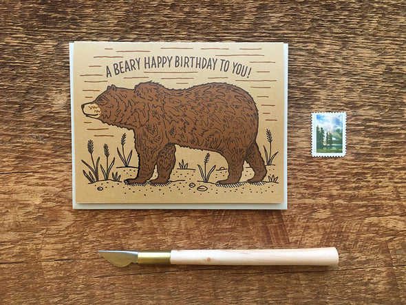 A Beary Happy Birthday To You Greeting Card